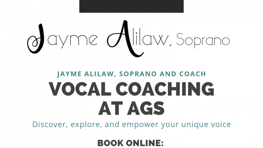 Vocal coach offering lessons to AGS students