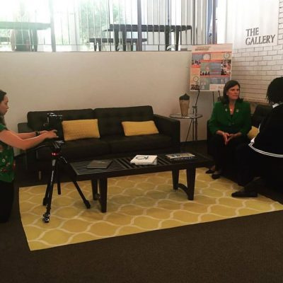 AGS Co-Founder Brooke Weinmann Visits Campus for Filming