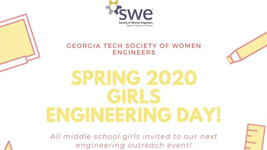 Spring 2020 Girls Engineering Day is April 11