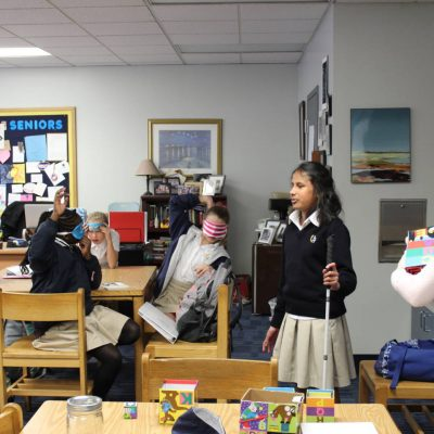 Raveena '24 Teaches Empathy Class to Kick-off Unit of The Miracle Worker
