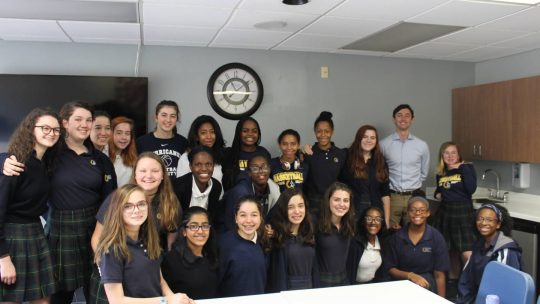 Jon Ossoff Visits with 9th Grade