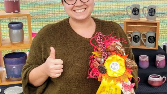 Ceramics Instructor Wins 1st Place Ribbon
