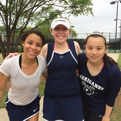 Emma Kate Sellers '18, Karina Tang '16, and Ally Render '17